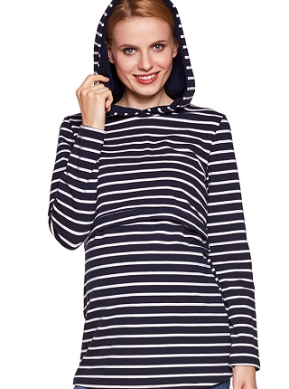 Bluza Duo stripes navy blue # S/M