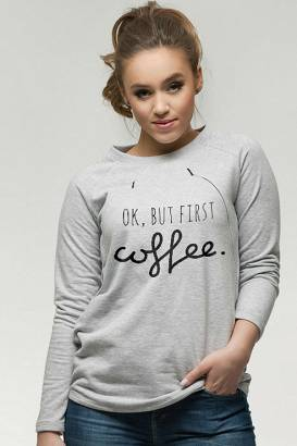 Bluza Simple do karmienia Ok but first coffee