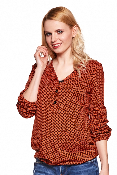 Bluzka Flora diamond orange # S/M