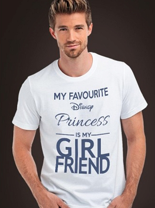 Koszulka dla taty My favourite Disney Princess is my girlfriend # S biały